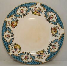 Vintage Queens Rosina China HoHo Blue, Chelsea Bird of Paradise Plate, 8""