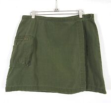 9bac487f0cde4 AEO American Eagle Wrap Skirt Beach Cover Up Size 12 Army Green Ripstop  Cotton