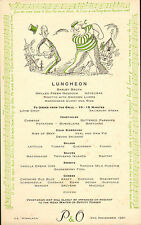 More details for p & o - s.s. himalaya menu (  1951 )  luncheon (  blow the man down )