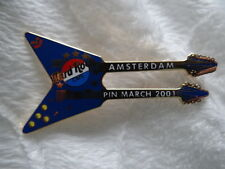 Pin Hard Rock cafe Amsterdam Guitar MARCH 2001