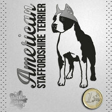 STICKER AMERICAN STAFFORDSHIRE TERRIER DOG PEGATINA DECAL AUTOCOLLANT AUFKLEB 貼紙