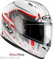HJC FG 17 Strike Red /White Full Face Tri Composite Motorcycle Helmet CLEARENCE