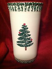 "FURIO HOME Christmas Pottery Vase  91/2""  NEW ""1998""   ( MADE IN ITALY)"