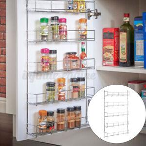 3/4/5/6 Tier Kitchen Spice Rack Cabinet Shelf Organizer Storage Mount Holder AU
