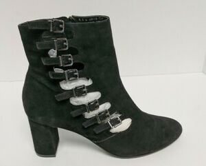 David Tate Mood Ankle Booties, Black Suede, Women's 8.5 M