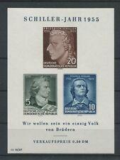 DDR ABART BLOCK 12 IV SCHILLER 1955 postfrisch ** MMH Mi 100.- c9964