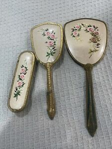 Vintage dressing table set - mirror and brushes