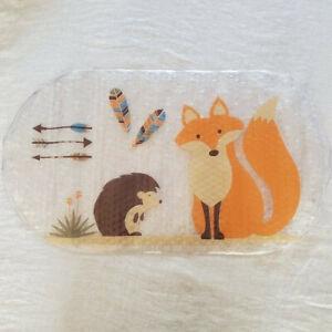 Mainstays Woodland Creature Cushioned Bath Mat Hedgehog Fox