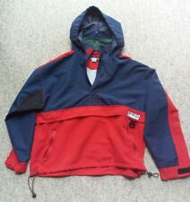 VTG 80s WGC Color Block Windbreaker Tommy Look Pro Action Hoodie Jacket Medium