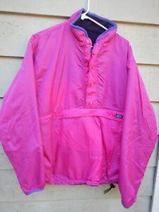 Patagonia Glissade Large Reversible Fleece Shell Pullover Jacket RARE Pink, Blue