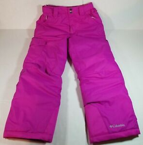 Columbia Bugaboo Omni-Tech Pink Ski Snow Pants Outerwear Youth Size Small (7-8)