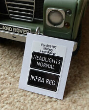 Land Rover Series 3 Military IR Lightweight NATO Headlight Switch Decal 589196