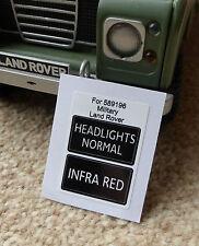 Land Rover Series Military IR Lightweight Infrared Headlight Switch Decal 589196