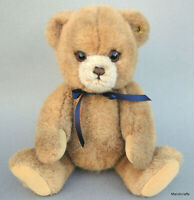 Steiff Petsy Teddy Bear Brown Plush Jointed 35cm 14in ID Button 1980s 90s Vtg