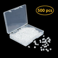 500Pcs Soft Clear Earring Backs Stoppers Silicone Jewelry Making Findings w/ Box