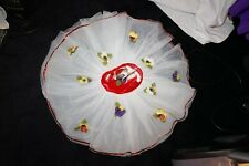 Curtain call girls red stretch velvet top white floral tutu size CXS