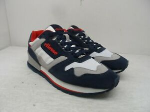 Ellesse Men's SUED AM Suede Trainer Sneakers Blue/Grey/White Size 11M