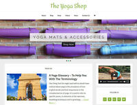 [NEW DESIGN] * YOGA * store blog website business for sale turnkey AUTO CONTENT