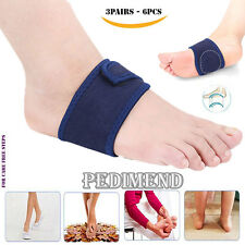 6PCS OF Adjustable PLANTAR FASCIITIS FOOT ARCH Support BY PEDIMEND™ - FOOT CARE