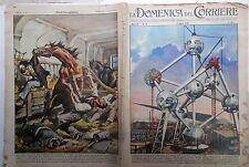 LA DOMENICA DEL CORRIERE 6 aprile 1958 Esposizione Bruxelles Treviglio De Amicis