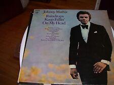 JOHNNY MATHIS-RAINDROPS KEEP FALLIN' ON MY HEAD-LP-VG-COLUMBIA TWO EYE