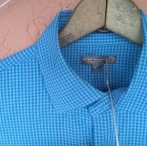 Men's Peter Millar Summer Comfort Medium Long Sleeve Button Down Shirt