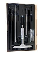 "Mitutoyo 129-132, 0 - 6"" X .001"" Depth Micrometer, 4"" Base"