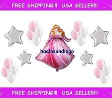 (¯`·. 21 Princess AURORA Sleeping Beauty Birthday Balloons! FREE Shipping.·´¯)