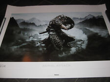 Elder Scrolls Skyrim Morrowind AERIAL ATTACK Lithograph Art Limited Edition #238