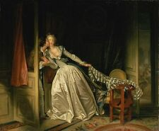 "Jean-Honoré Fragonar:  ""The Stolen Kiss"" - Victorian Era - Fine Art Canvas Print"