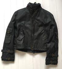 Alpha Industries Waxed Cotton Biker Jacket | Size Medium | Black | Very Rare