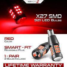 """""""ROSSO RED"""" T15 921 SMD LED Tail Brake Rear Stop Truck Cargo Bed Lamp Light Bulb"""