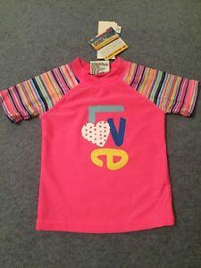 baby girl Rashie  vest Size 2 NEW  rashie top togs UPF50+ love swimwear swimmers