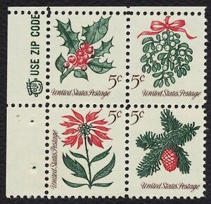 #1257b 5c Christmas 1964, Zip Block [UL], **ANY 4=FREE SHIPPING**