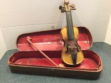 Metal Doll Violin And Case