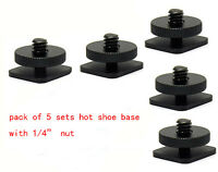 5pcs 1/4 to 20 Inches Tripod Screw to Flash 5-Piece Shoe Mount Adapter fr camera
