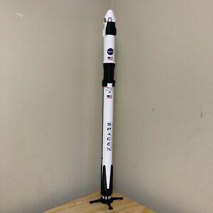 """SpaceX Falcon 9 Demo-2 Model w/ Crew Dragon 1:72 Scale 40"""" Tall"""