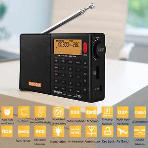 SIHUADON D808 Digital Radio FM Stereo SW MW LW SSB AIR RDS Portable Receiver