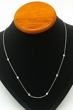 0.30 Ctt Round Diamond Necklace 18 Kt White Gold. GIA Appraisal Certificate $480