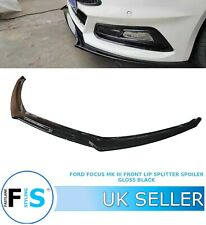 FORD FOCUS RS ST LOOK MK3 FRONT LIP SPLITTER SPOILER 12-18 GLOSS BLACK OEM FIT