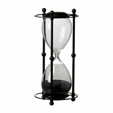 """1 Hr. Hourglass Sand Timer In Stand Black 6x13"""" - 44360-BLAC"""