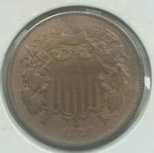 1868 Two Cent Piece - Nice Color