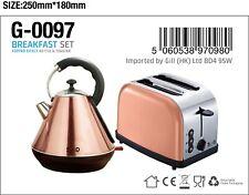 Spot on Dealz Copper 3000W 1.7L Kettle And 2 Slice Toaster Breakfast Set