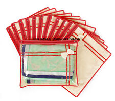 saree cover,Suit Cover, clothes keeping plastic and cloth bag with zipper 24 PC