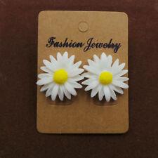 Cute Daisy Flower Sunflower Earring Resin Ear Stud Earrings Women Girls Jewelry