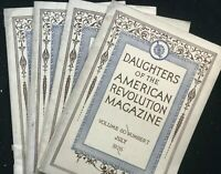 Lot of 4 DAUGHTERS OF THE AMERICAN REVOLUTION Magazine - Jul Oct Nov Dec 1926