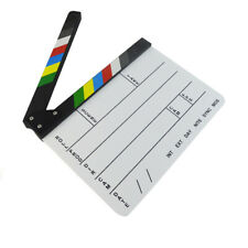 Utility Acrylic Dry Erase Film Clapboard Video Scene Movie Clapper Board Slate