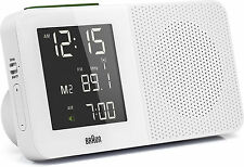 Radio-Réveil Quartz BRAUN Blanc - Radio-Piloté - Interface LCD - BNC010WH-RC