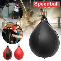 PU Speed Hang Ball Boxing Punch Bag Punching Training Gym MMA Swivel Speedball