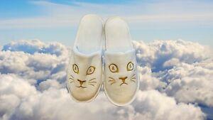 Adult Swim Branded Happy/Sad Cat Logo Promo Bedroom Slippers
